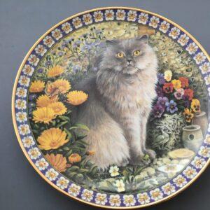 Danbury Mint Cat Among The Flowers