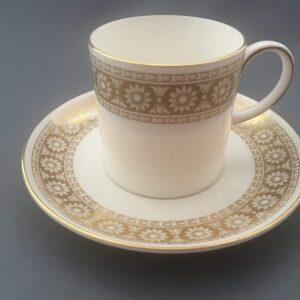 """Wedgwood """"Marguerite"""" White & Gold"""