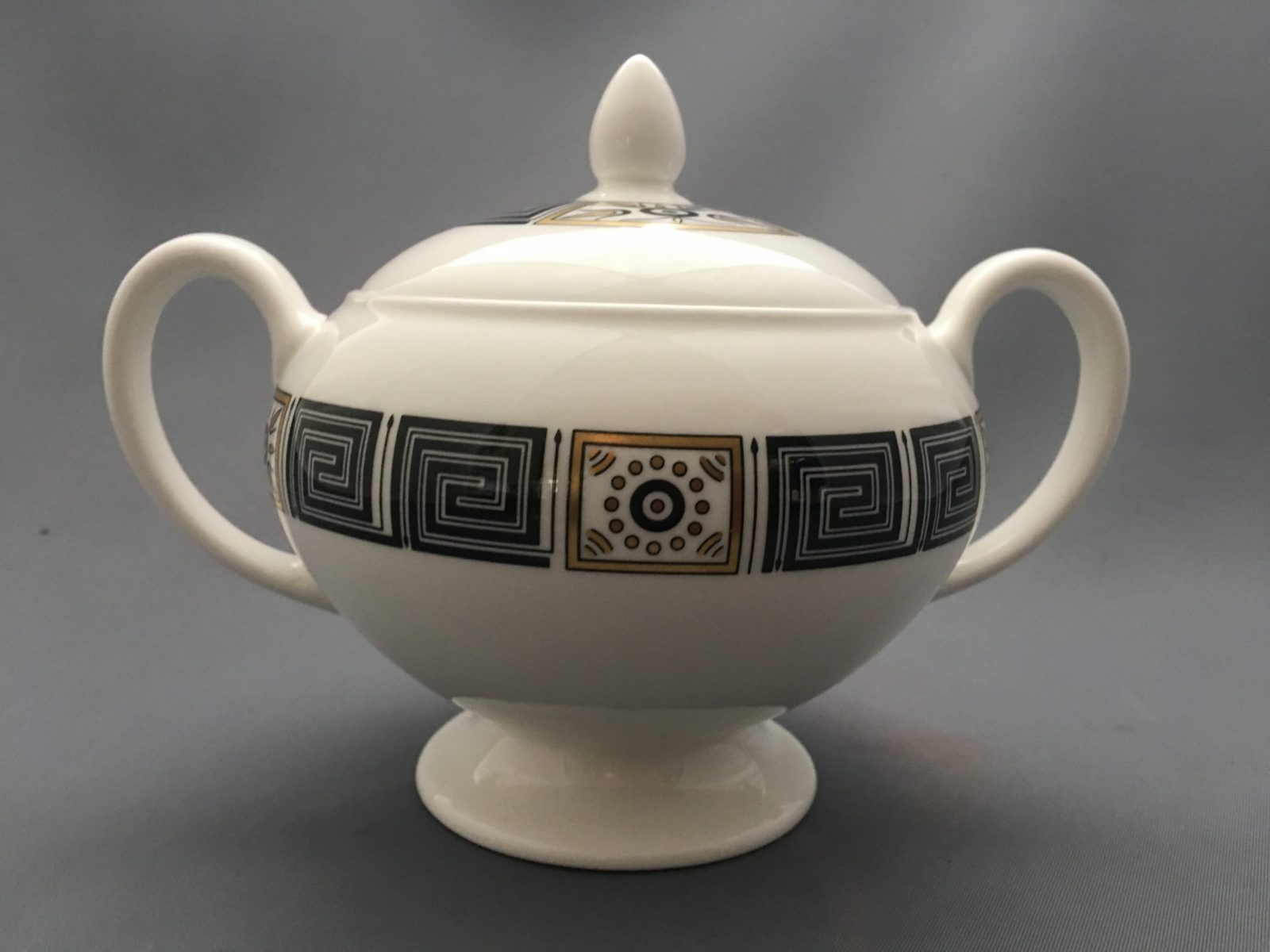 Wedgwood Asia Black Bone China Lidded Sugar Bowl Tea Replace Your Plates